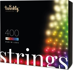 Гирлянда Smart LED Twinkly Strings RGBW 400, BT + Wi-Fi, Gen II, IP44, кабель черный