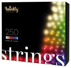 Гирлянда Smart LED Twinkly Strings RGBW 250, BT + Wi-Fi, Gen II, IP44, кабель прозрачный