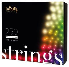 Гирлянда Smart LED Twinkly Strings RGBW 250, BT + Wi-Fi, Gen II, IP44, кабель черный
