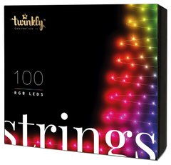Гирлянда Smart LED  Twinkly Strings RGB 100, BT + Wi-Fi, Gen II, IP44, кабель черный