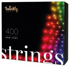 Гирлянда Smart LED Twinkly Strings RGB 400, BT + Wi-Fi, Gen II, IP44, кабель черный